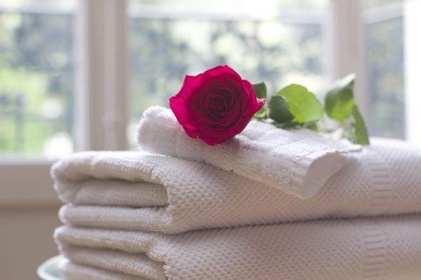 Cuidados de lavagem com toalhas