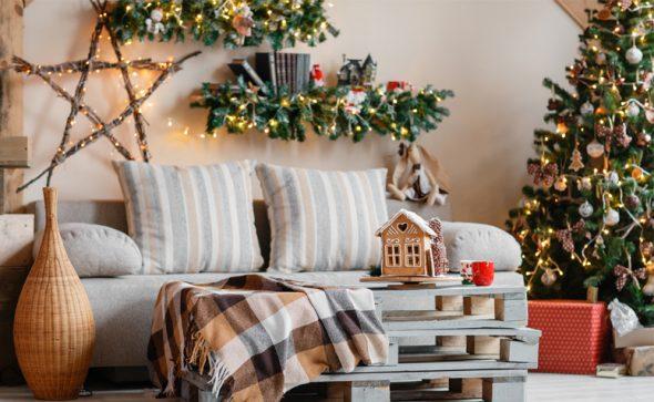 No dia de Natal orgulhe-se da decoração da sua sala!